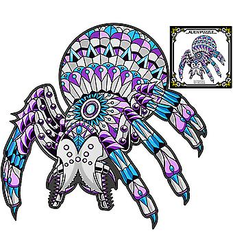 Children's Puzzles Animal Shapes Wood 3d Jigsaw Puzzle Spider-shaped Children Puzzles Gifts