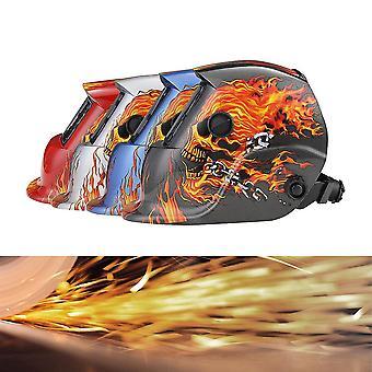 Solar Auto Powered Darkening Svetsare Arc Tig Mig Slipning Svetshjälm Mask