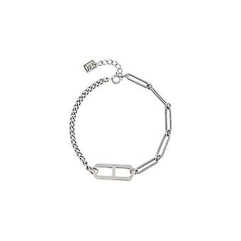 Silver plating Trendy Bracelets for Women Vintage Simple Hollow Geometric Oval Birthday Party