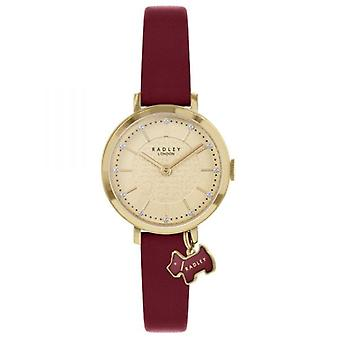 Radley Selby Street Ry2862a Gold Dial Leather Strap Ladies Watch