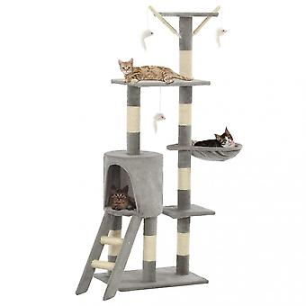 Chunhelife Cat Tree With Sisal Scratching Posts 138 Cm Grey