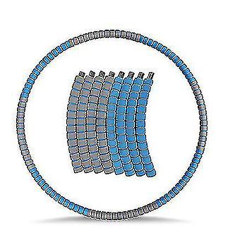Copoz ponderado Hula Hoop para adultos, ejercicio de pérdida de peso hula anillo con inoxidable (gris azul)