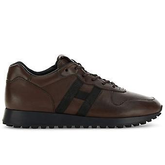 Hogan H383 Herren Sneakers Aus dunkelbraunm Leder