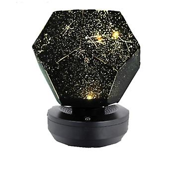 Galaxy Projector Light Rechargeable Stand Lamp For Home Lampshade Control 3 Color Battery