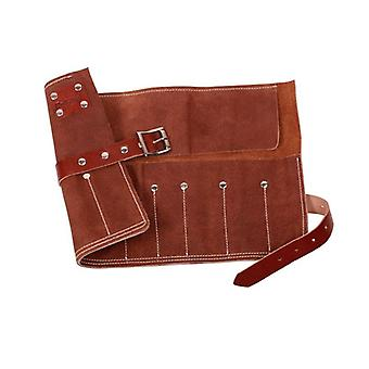 Dark Stag Leather Barber Tool Roll