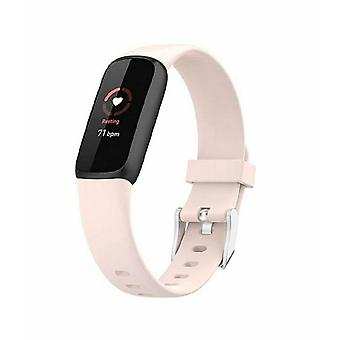 for Fitbit Luxe / Special Edition Replacement Band Strap Silicone Bracelet Wrist[Small,Pink]