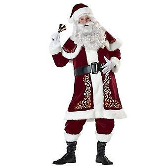 Mens Women's Santa Costume Set Christmas  Adult Santa Claus Suit