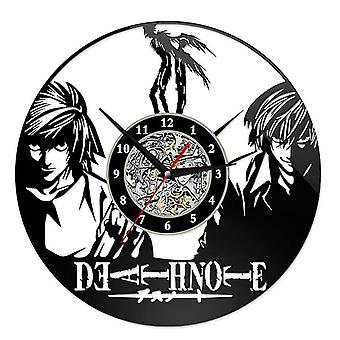 Death Note Wall Clock 12 Inches Poster Pattern Vinyl Record Diy Clock