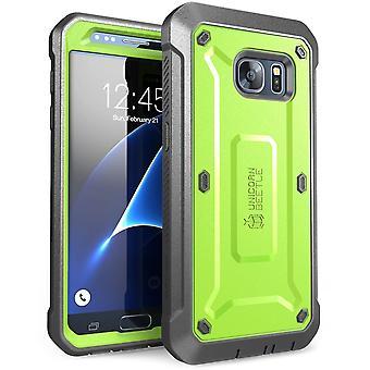 Samsung Galaxy S7 tapauksessa SUPCASE, yksisarvinen Beetle Pro-sarja, koko kehon sisäistä näytön S7 tapauksessa Galaxy S7 tapauksessa-vihreä/harmaa
