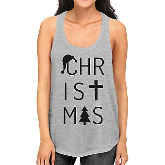 Christmas Letters Funny Graphic Racerback Tank Top Gift For Women