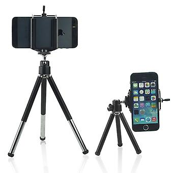 (Tripod Phone Holder) Adjustable Mini 360 Rotatable Tripod Stand with Phone Clip Holder For Apple iPhone 8