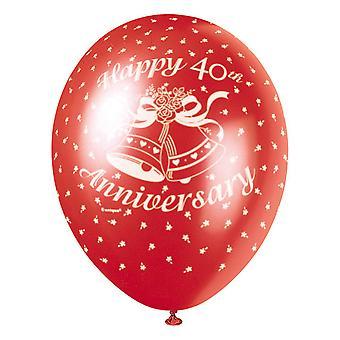Unik Party 12 tums 40 årsdagen Latex ballong