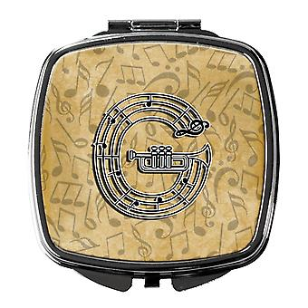 Letter G Musical Instrument Alphabet Compact Mirror