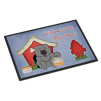 Dog House Collection Chow Chow Blue Indoor or Outdoor Mat 18x27