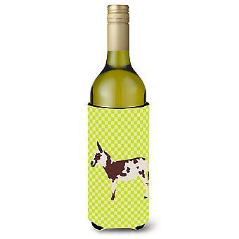 Amerikkalainen laikullinen aasi vihreä viinipullo Beverge eriste Hugger