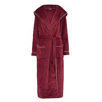 Slenderella GL8746 Women's Rasberry Red Robe Long Sleeve Dressing Gown