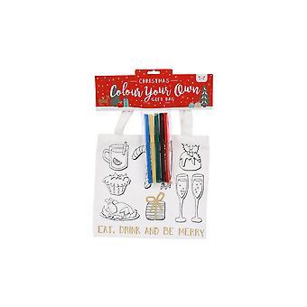 CGB gaveartikler Christmas farge i spise drikke og være munter gavepose