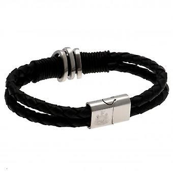 Newcastle United Leather Bracelet