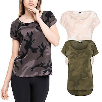 Цикл классики дамы - длинные формы HiLo верхняя рубашка camo