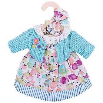 Bigjigs Toys Türkis Rag Doll Cardigan & Outfit Kleid (34cm) Kleidung Dress Up
