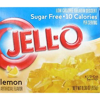 Jell-O Lemon Sugar Free Instant Jello Gelatin Mix