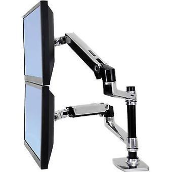 Ergotron 45-248-026 Lx 360° Rotating Dual Monitor Bracket, 15 to 24 9.1kg Black, Silver