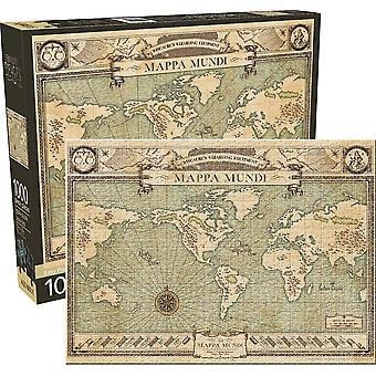 Fantastic Beasts Map 1000 Piece Jigsaw Puzzle 690Mm X 510Mm