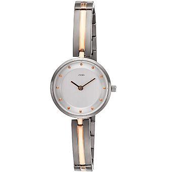 JOBO ladies wrist watch quartz analog titanium bicolor mens watch