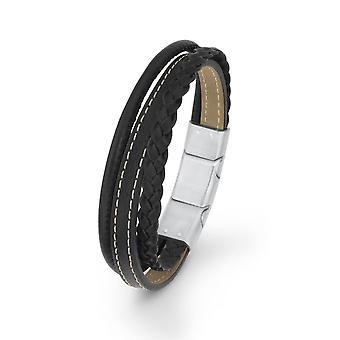 s.Oliver драгоценность Дамы браслет черный кожаный SO1470/1 - 9236022