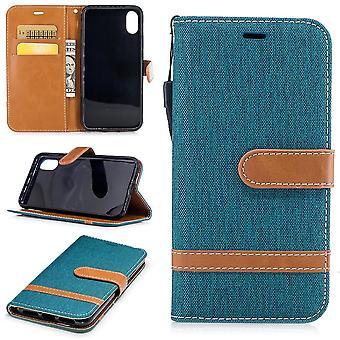 Case para Apple iPhone XS calças de brim capa luva de proteção de célula caso Grün
