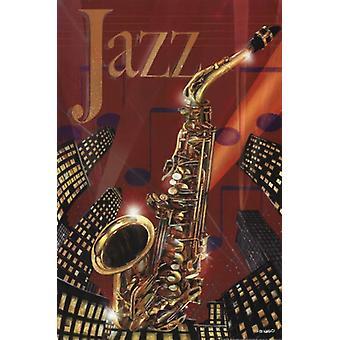 Imprimir cartel jazz por Ed Wargo (12 x 18)