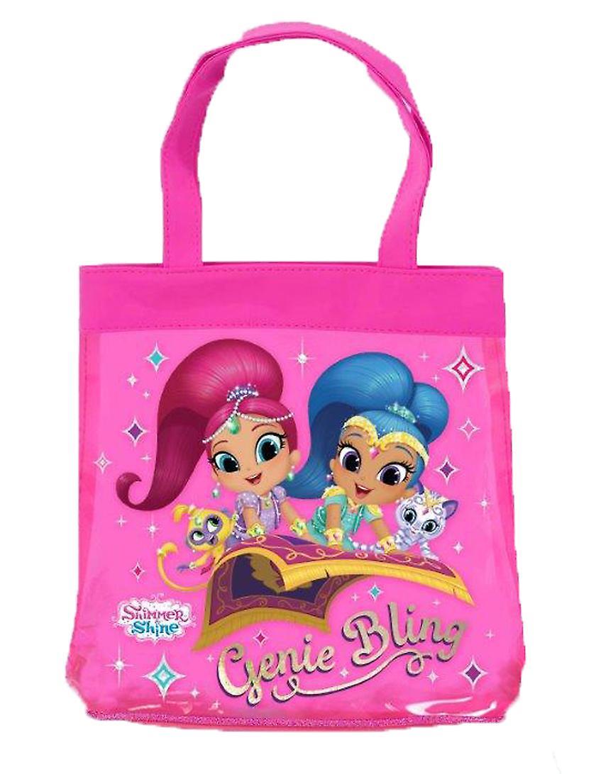 Shimmer and Shine pink tote bag