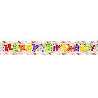 Amscan joyeux anniversaire holographique papier bannière