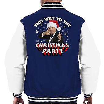 Tom Hanks This Way To The Christmas Party Men's Varsity Jacket