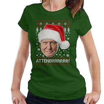 Attenbrrrrrr David Attenborough jul sticka Women's T-Shirt