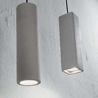 Ideal Lux SP1 roble cemento cuadrada colgante luz