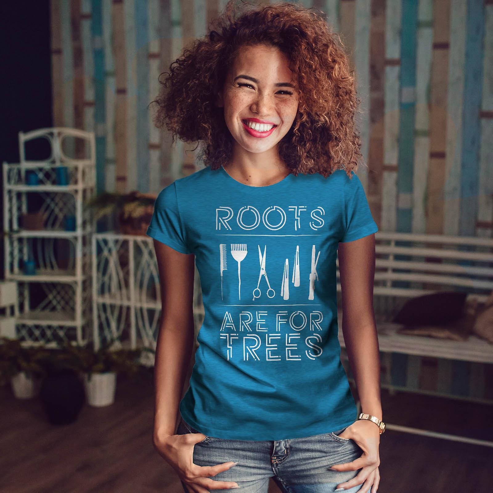 Coiffeur racines Royal BlueT-chemise de femme | Wellcoda