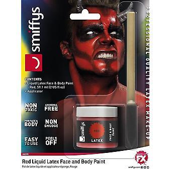Liquid Latex Pot & Sponge Applicator, RED