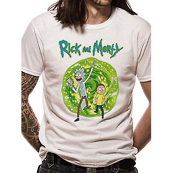 Rick And Morty-Portal Front Only T-Shirt
