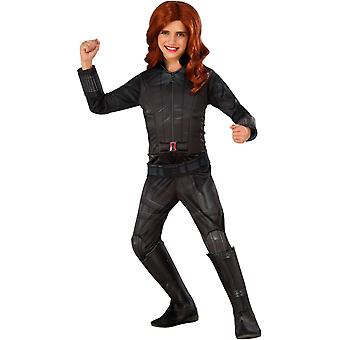 Deluxe Black Widow Çocuk Kostümü
