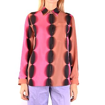Marco De Vincenzo Ezbc120001 Women's Multicolor Silk Shirt