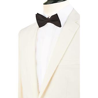 Dobell Mens blanco 2 pieza smoking Regular Fit muesca solapa cena de traje pantalón negro