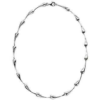 Начала органические формы ожерелье падение - серебро