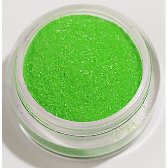 1x Fine-grained glitter Neon light green