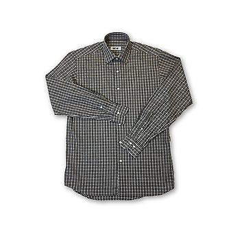 Ingram shirt in brown and white check pattern
