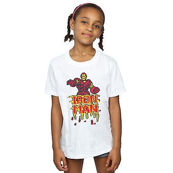 Marvel Girls Iron Man Pixelated T-Shirt