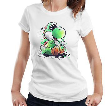 Yoshi Watercolour Super Mario Women's T-Shirt
