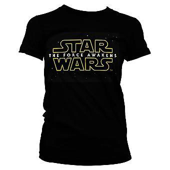 Donna Star Wars la forza risveglia nero T-Shirt