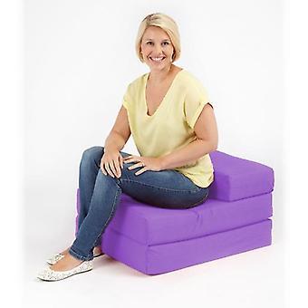 Puuvilla twill taitettava yhden Z vuode sohva-violetti
