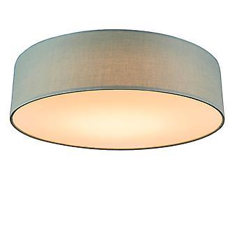 QAZQA Decke Lampe Trommel LED 40 grüne
